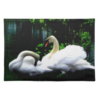 White Mute Swans Placemat
