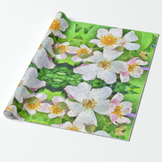 White 'n Pink Roses wrappingpaper, floral feminine Wrapping Paper