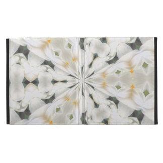White Narcissus Kaleidescope Caseable ipad Case