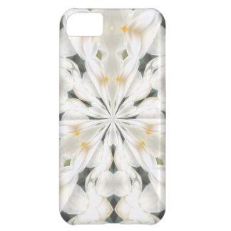 White Narcissus Kaleidoscope iphone 5 Case