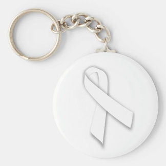 White National Day of Remembrance Ribbon Key Ring