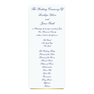 White Nautical Wedding Ceremony Programs Cards 10 Cm X 24 Cm Invitation Card