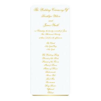 White Nautical Wedding Ceremony Programs Cards 10 Cm X 24 Cm Invitation Card