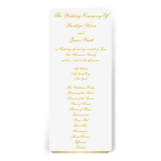 White Nautical Wedding Ceremony Programs Cards