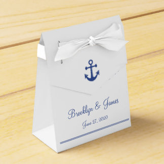White Nautical Wedding Favor Boxes With Anchor Favour Boxes