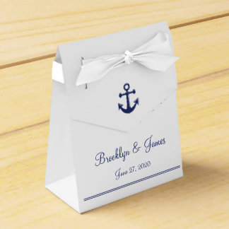 White Navy Blue Nautical Wedding Favor Boxes Tent Wedding Favour Box
