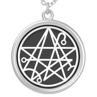 White Necronomicon Seal Necklace