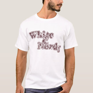 White & Nerdy - burgundy on light shirt