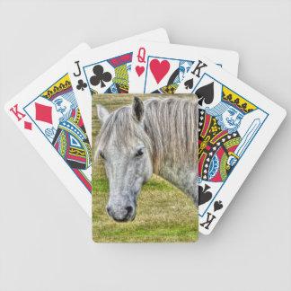 White New Forest Pony Wild Horse Poker Deck