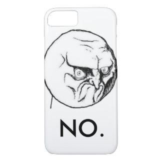 "White ""NO."" meme Funny iPhone 7 Case"