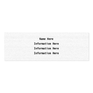 White Noise. Black and White Snowy Grain. Pack Of Skinny Business Cards
