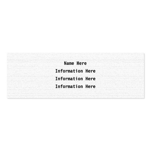 White Noise. Black and White Snowy Grain. Business Card Template