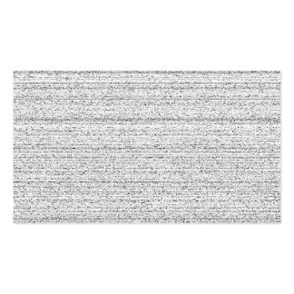 White Noise. Black and White Snowy Grain. Pack Of Standard Business Cards