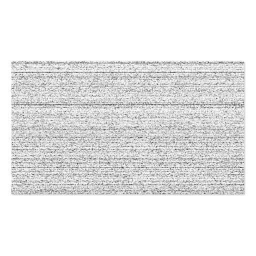 White Noise. Black and White Snowy Grain. Business Card Templates
