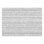 White Noise. Black and White Snowy Grain. Business Cards