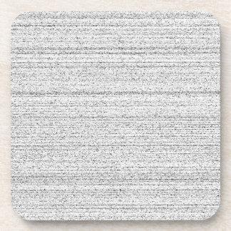 White Noise Black and White Snowy Grain Drink Coaster