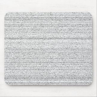 White Noise Black and White Snowy Grain Mouse Pad