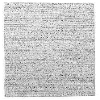 White Noise Black and White Snowy Grain Printed Napkins