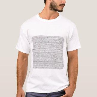 White Noise. Black and White Snowy Grain. T-Shirt