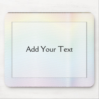 White Noise Pastel Mousepad