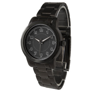 White Numerals on Black - Classic Watch
