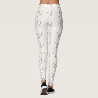 WHITE NYC LOGO BEIGE LEGGINGS HAVIC ACD