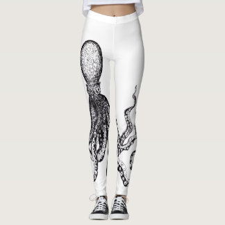 White Octopus Leggings