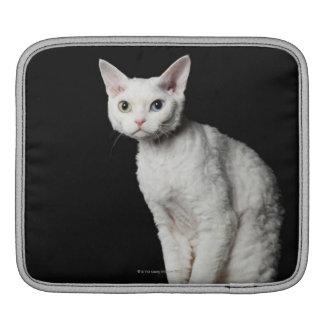 White odd-eyed cat 3 iPad sleeve