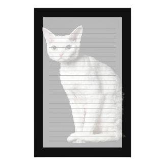 White odd-eyed cat 3 stationery