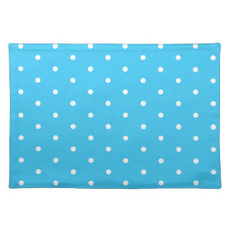 White on Aqua Polka Dots Placemats