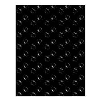 white on black buttercup postcard