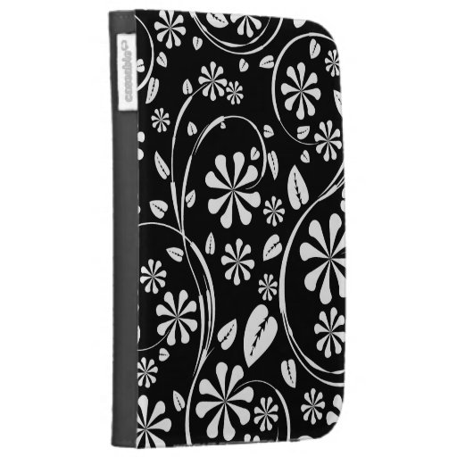 White on Black Daisy Flower Pattern Cases For The Kindle