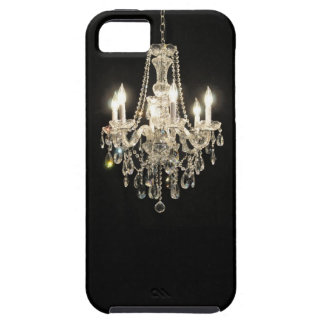 White on Black Dazzling  Vintage Chandelier Case For The iPhone 5