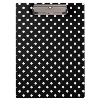 White on Black Dot Design Clipboard