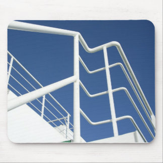 White On Blue Mouse Mat