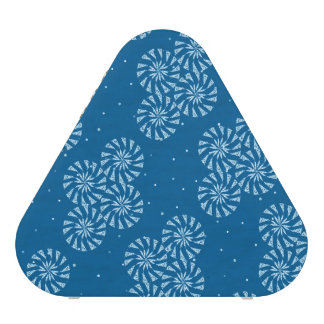 White on Blue Snowflake Winter Holiday Pattern
