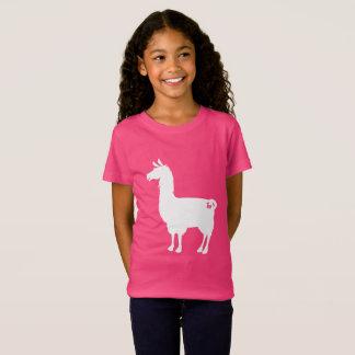White On Colour Llama Kids T-shirt