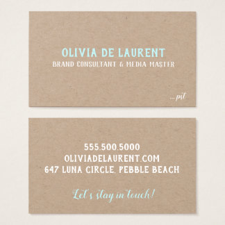 White on Kraft Charming Business Card: the Olivia Business Card
