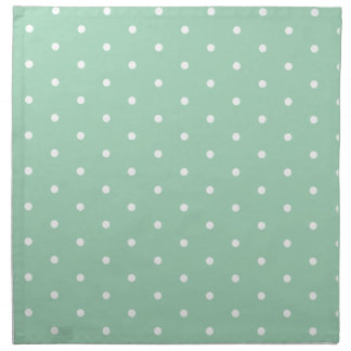 White on Mint Polka Dots Napkin