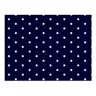 White on Navy Polka Dots Postcard