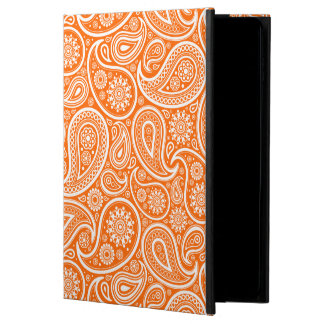 White On Orange Retro Paisley Pattern Powis iPad Air 2 Case