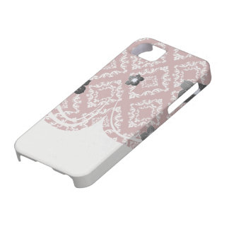 white on red diamond damask barely there iPhone 5 case