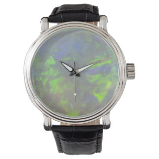 White Opal Play-of-Color Watch