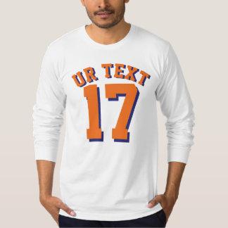 White & Orange Adults | Sports Jersey Design T-shirts