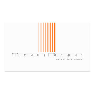 White, Orange and Grey Modern - Business Card