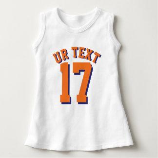 White & Orange Baby | Sports Jersey Design Tshirt