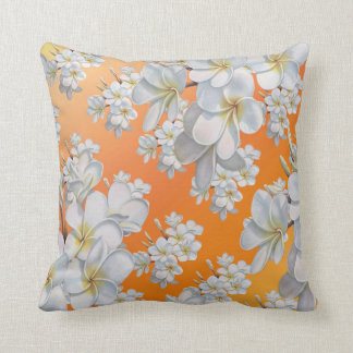 White Orange flower Throw pillow Throw Cushions