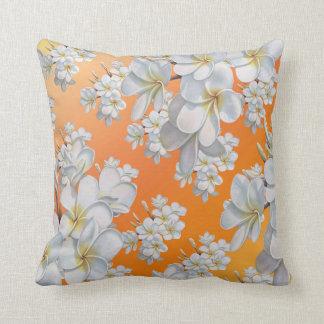 White Orange flower Throw pillow Throw Cushions