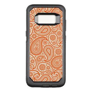 White & Orange Paisley Seamless Pattern OtterBox Commuter Samsung Galaxy S8 Case