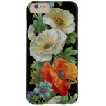 White Orange Poppies Vintage Art iPhone6 Plus case